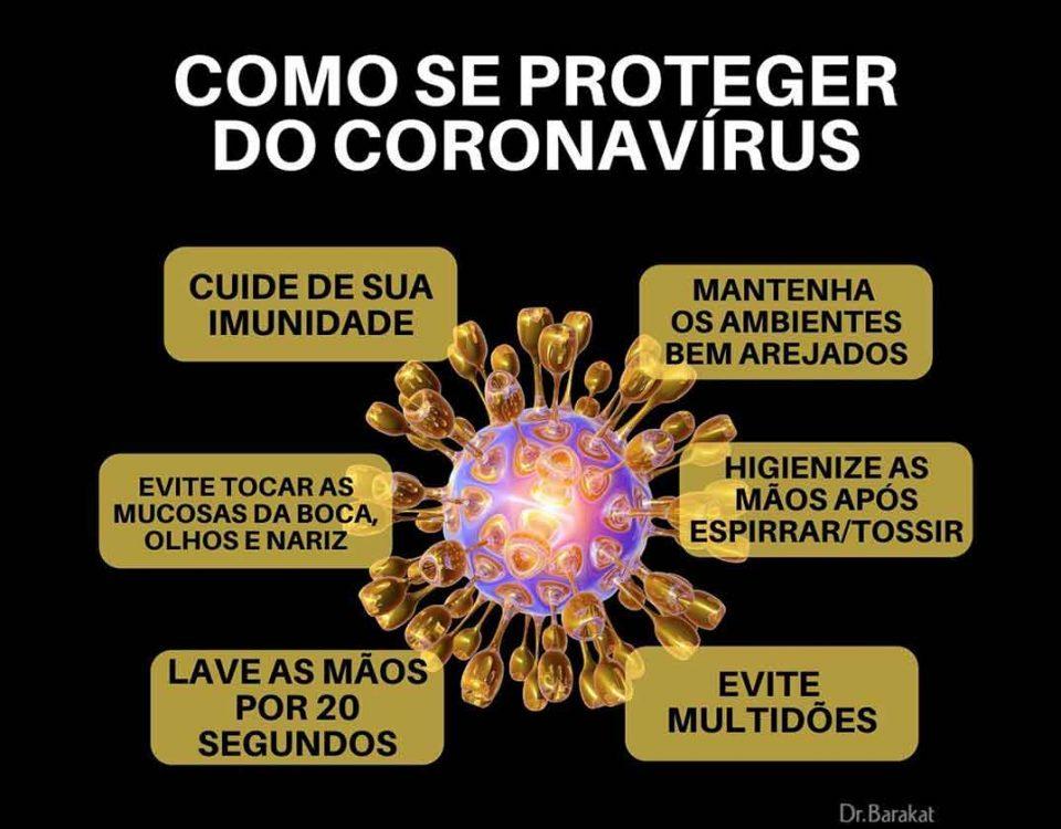 Como se proteger do coronavirus