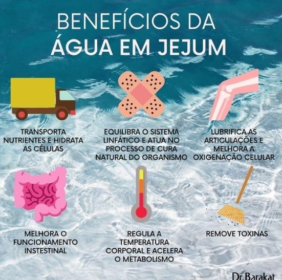 os benefícios da água em jejum